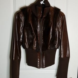 Mackage leather fur Bomber jacket